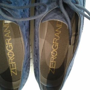 Cole haan zero grand Shoes - New Cole Haan grand os blue leather Oxford sneaker